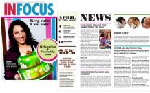 InFocus magazine design