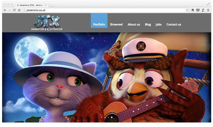 JTX animation studio website
