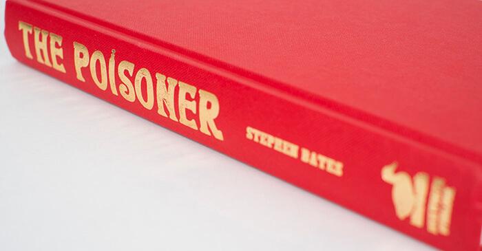 The Poisoner book jacket spine design