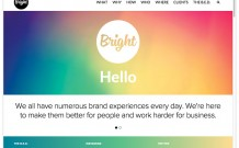 Bright brand experience website
