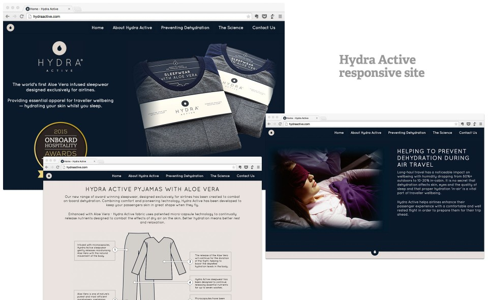 Hydra Active website
