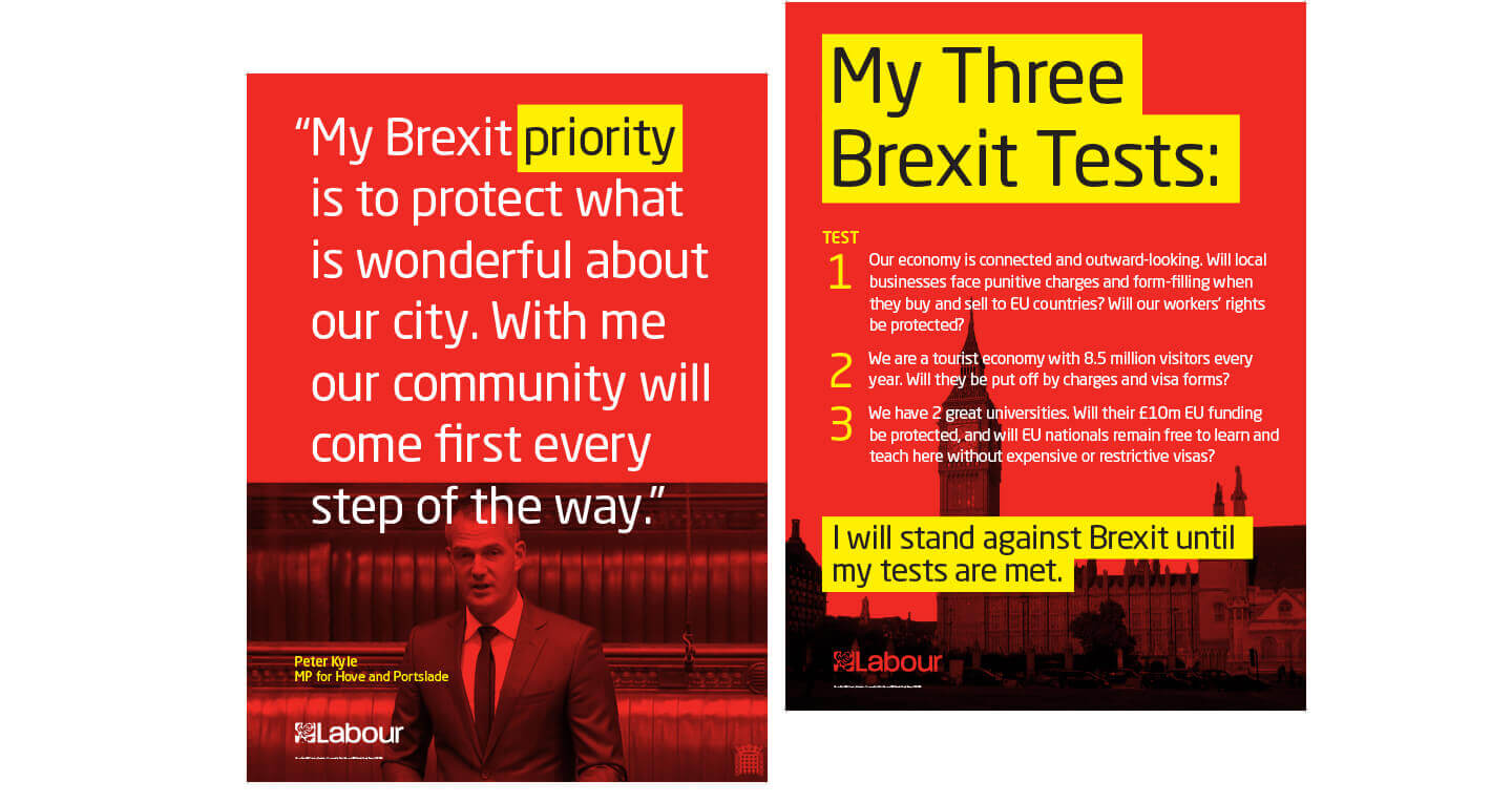 Peter Kyle brexit test posters