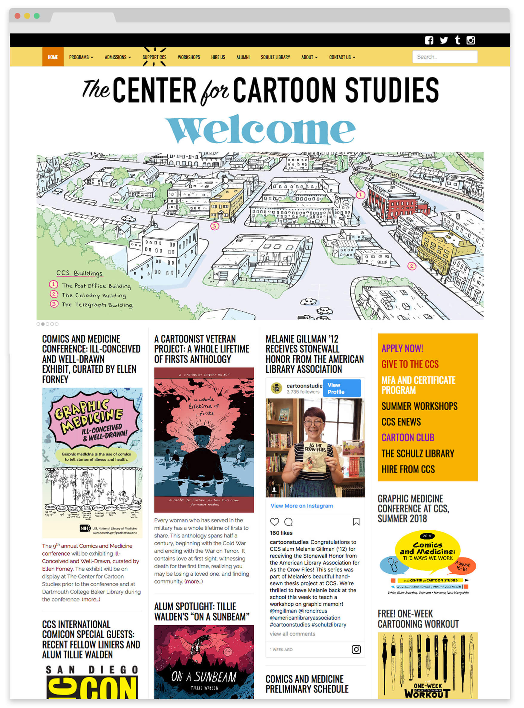 CCS cartoon school website design
